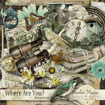 digital scrapbooking page kit Memories In A Bottle by Studio Manu