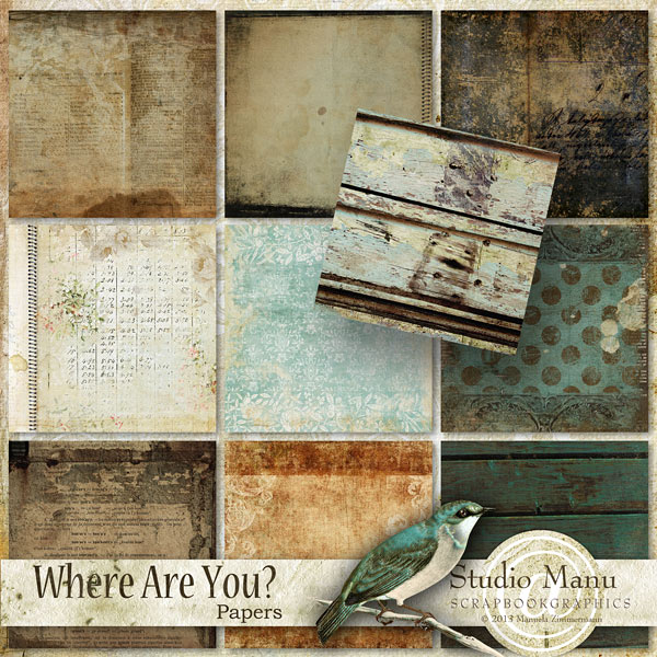 scrapbooking Papers Where Are You by Studio Manu