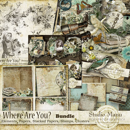 Vintage Scrapbooking Collection by Studio Manu