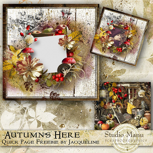 Autumn's Here - Quick Page Freebie