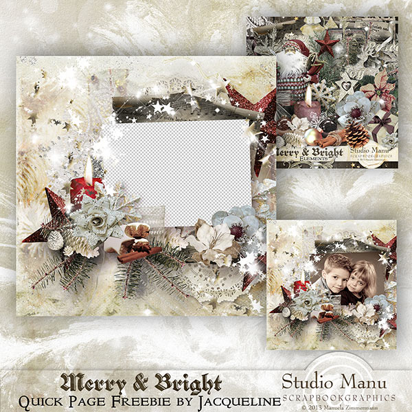 Merry & Bright Quick Page Freebie