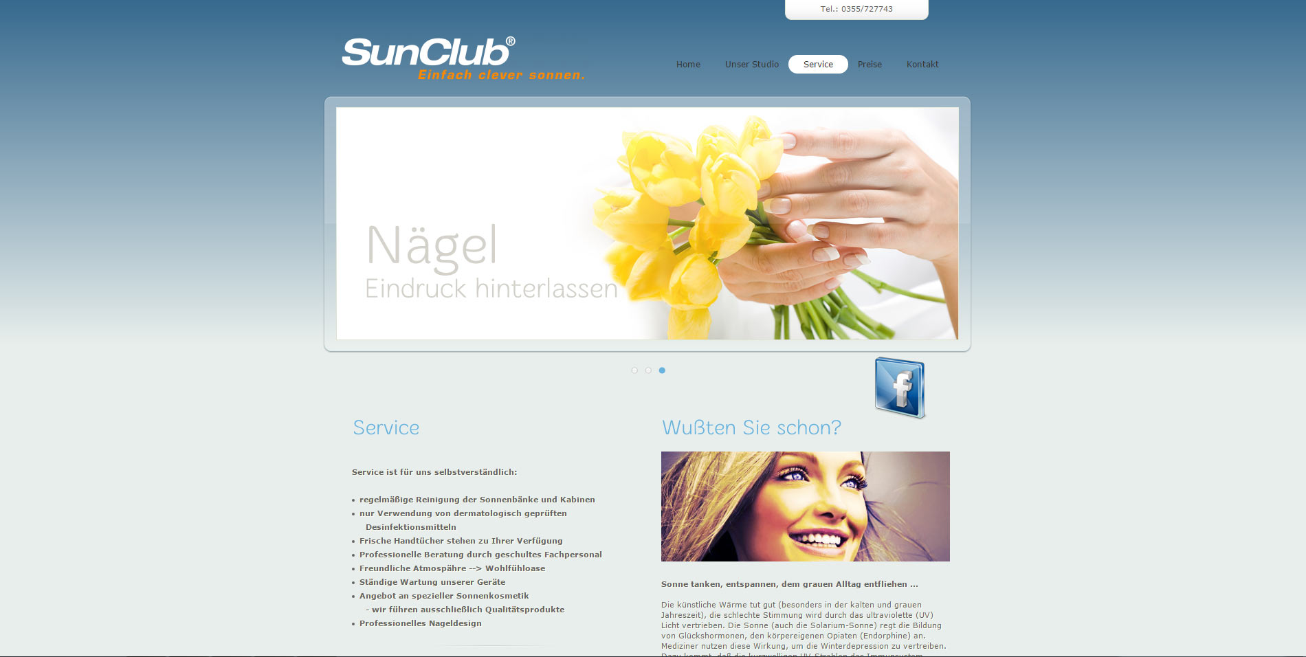 webdesign tanning salon